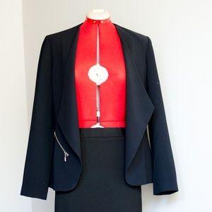Trouvé Drapey Open Blazer in Black
